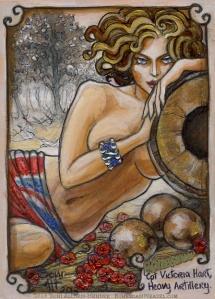 """Captain Victoria Hart, Heavy Artillery."" By Soni Alcorn-Hender"