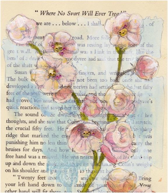Blossomy book art, by Soni Alcorn-Hender