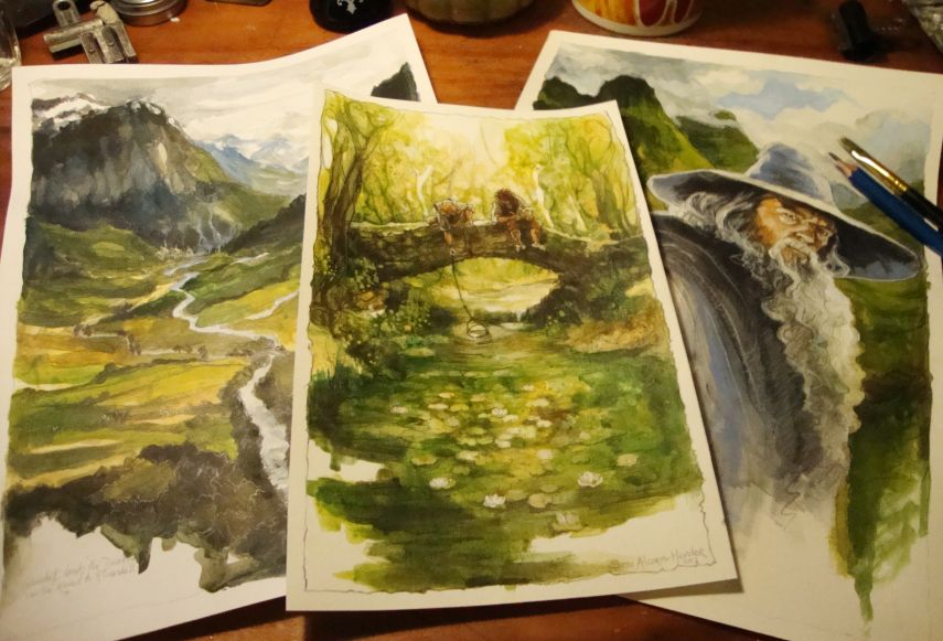 Middle-Earth landscapes by Soni Alcorn-Hender