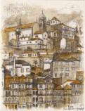 Porto sepia painting, Soni Alcorn-Hender
