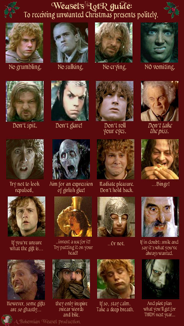 Bohemian Weasel's LotR guide to receiving gifts politely