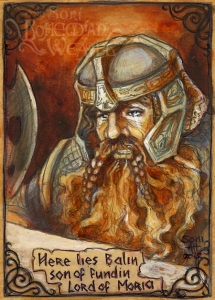 'Here lies Balin, son of Fundin, Lord of Moria' By Soni Alcorn-Hender