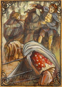 """""""The mightiest man may be slain by one arrow.."""" by Soni Alcorn-Hender"""