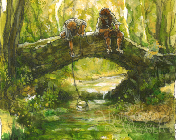 Sam and Frodo detail by Soni Alcorn-Hender