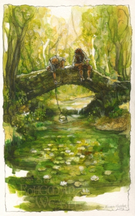 Sam and Frodo in the Shire by Soni Alcorn-Hender
