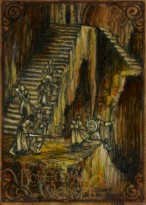 The stairs of Moria by Soni Alcorn-Hender