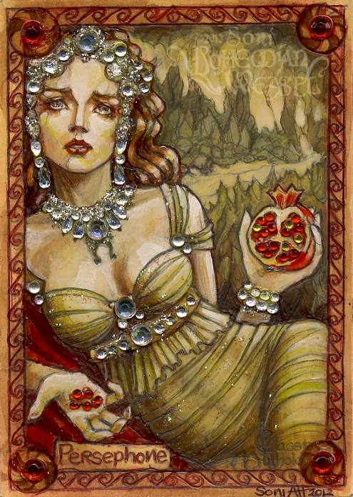 Persephone and the fateful pomegranate | Bohemian Weasel