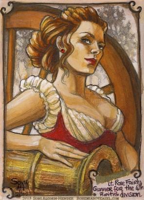 Lieutenant Rose Fairly by Soni Alcorn-Hender