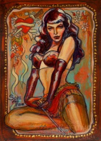 Bettie Page by Soni Alcorn-Hender