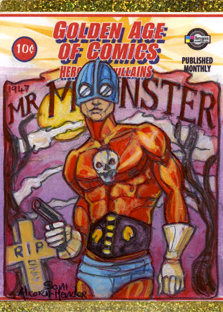 Breygent Golden Age of Comics sketch card by Soni Alcorn-Hender