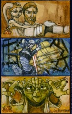 Topps Clone Wars sketch cards by Soni Alcorn-Hender