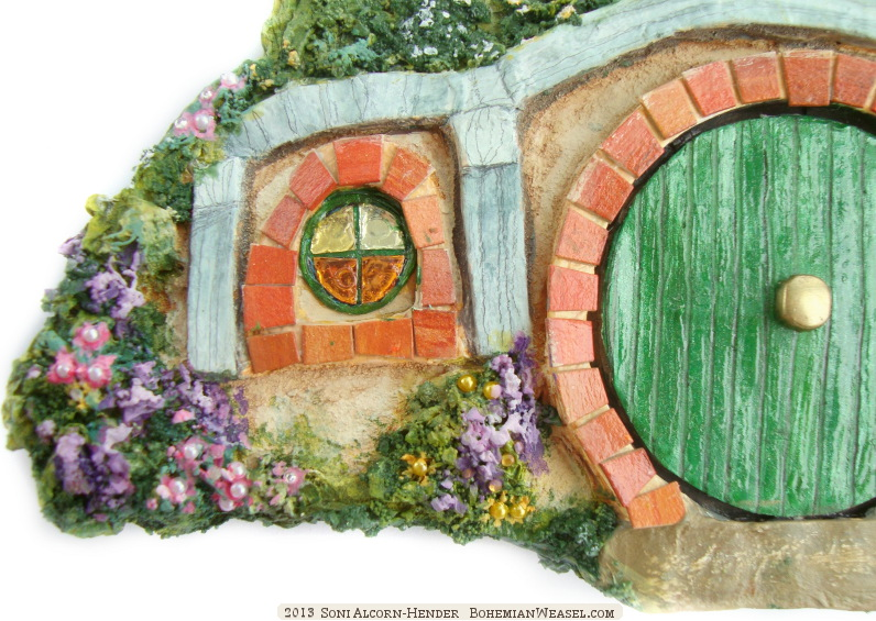 Papier-mâché Middle-earth: Bag-end, by Soni Alcorn-Hender