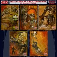 Topps Star Wars Galaxy sketch cards by Soni Alcorn-Hender
