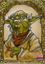 Topps Star Wars Galaxy sketch card by Soni Alcorn-Hender