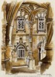 Palácio do Buçaco painting, Soni Alcorn-Hender