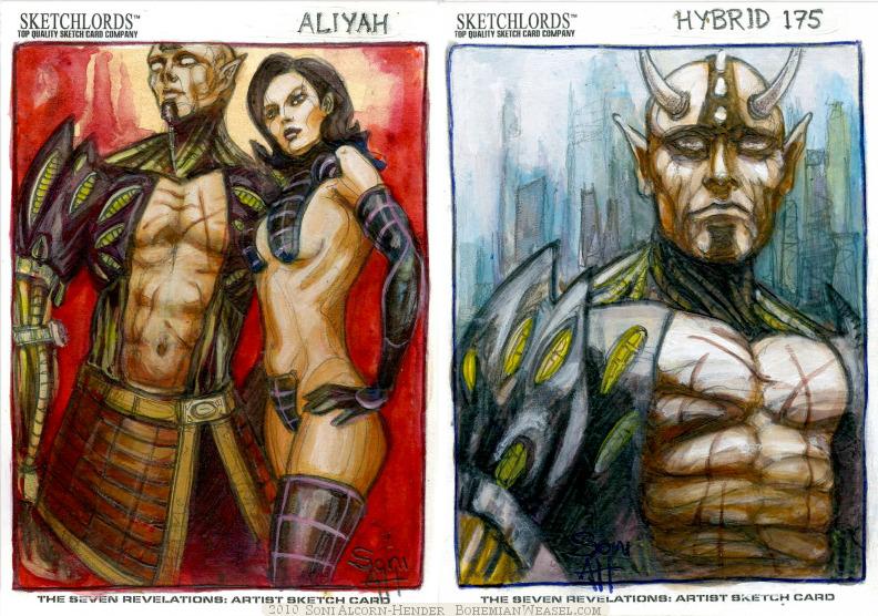 Sketchlords sketch cards by Soni Alcorn-Hender