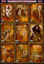Topps Star Wars Galaxy 6 sketch cards by Soni Alcorn-Hender