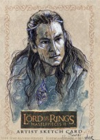 Second Age: Gil-galad, Topps Lord of the Rings LotR Masterpieces 2 sketch card by Soni Alcorn-Hender
