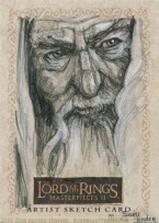 'Farewell, dear Bilbo' Topps Lord of the Rings LotR Masterpieces 2 sketch card by Soni Alcorn-Hender