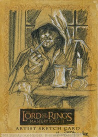 '...he's known as Strider' Topps Lord of the Rings LotR Masterpieces 2 sketch card by Soni Alcorn-Hender