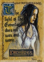 Arwen, Evenstar of her people Topps Lord of the Rings LotR Masterpieces 2 sketch card by Soni Alcorn-Hender