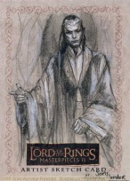 Council of Elrond, Topps Lord of the Rings LotR Masterpieces 2 sketch card by Soni Alcorn-Hender
