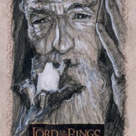 Gandalf's staff, Topps Lord of the Rings LotR Masterpieces 2 sketch card by Soni Alcorn-Hender