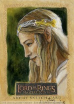 Parting gifts of Galadriel Topps Lord of the Rings LotR Masterpieces 2 sketch card by Soni Alcorn-Hender