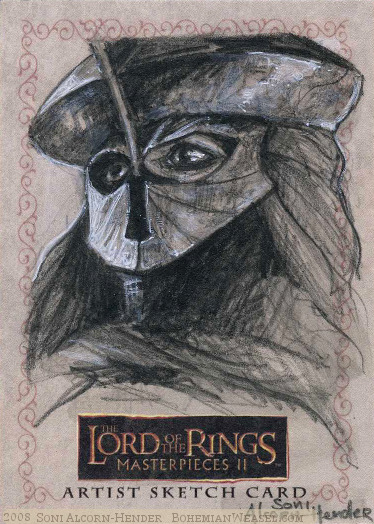 Easterlings, Topps Lord of the Rings LotR Masterpieces 2 sketch card by Soni Alcorn-Hender
