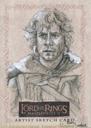 '...It's the Ring.' Topps Lord of the Rings LotR Masterpieces 2 sketch card by Soni Alcorn-Hender