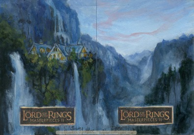 Twilight of Rivendell Topps Lord of the Rings LotR Masterpieces 2 sketch card by Soni Alcorn-Hender