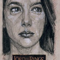 'There is nothing for you here, only death.' Topps Lord of the Rings LotR Masterpieces 2 sketch card by Soni Alcorn-Hender