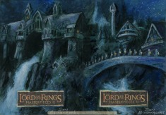 'Our people are leaving these shores..' Topps Lord of the Rings LotR Masterpieces 2 sketch card by Soni Alcorn-Hender