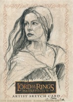 Arwen's choice Topps Lord of the Rings LotR Masterpieces 2 sketch card by Soni Alcorn-Hender