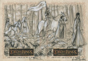 The last journey of Arwen Úndomiel Topps Lord of the Rings LotR Masterpieces 2 sketch card by Soni Alcorn-Hender