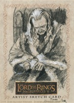 Denethor grieves for Boromir Topps Lord of the Rings LotR Masterpieces 2 sketch card by Soni Alcorn-Hender
