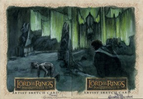 Tower of the Witch-king Topps Lord of the Rings LotR Masterpieces 2 sketch card by Soni Alcorn-Hender
