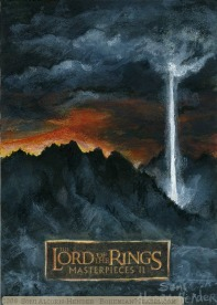 Signal of Mordor Topps Lord of the Rings LotR Masterpieces 2 sketch card by Soni Alcorn-Hender
