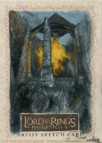 'Hope is rekindled.' Topps Lord of the Rings LotR Masterpieces 2 sketch card by Soni Alcorn-Hender