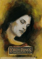 'A mortal life' Topps Lord of the Rings LotR Masterpieces 2 sketch card by Soni Alcorn-Hender