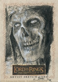 The King of the Dead Topps Lord of the Rings LotR Masterpieces 2 sketch card by Soni Alcorn-Hender