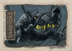 The battering ram of Mordor Topps Lord of the Rings LotR Masterpieces 2 sketch card by Soni Alcorn-Hender
