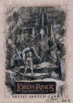'Then let us be rid of it, once and for all!' Topps Lord of the Rings LotR Masterpieces 2 sketch card by Soni Alcorn-Hender