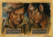 '..here at the end of all things.' Topps Lord of the Rings LotR Masterpieces 2 sketch card by Soni Alcorn-Hender