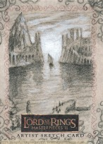 Topps Lord of the Rings LotR Masterpieces 2 sketch card by Soni Alcorn-Hender