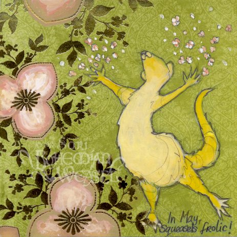 'In May, Squeasels frolic!' by Soni Alcorn-Hender