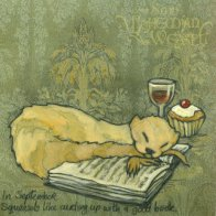 'In September, Squeasels like curling up with (or on) a good book.' by Soni Alcorn-Hender
