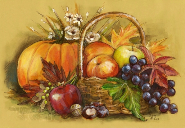 Autumnal still life by Soni Alcorn-Hender
