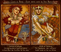 Astrid of Iceland & Hilde of Norway by Soni Alcorn-Hender