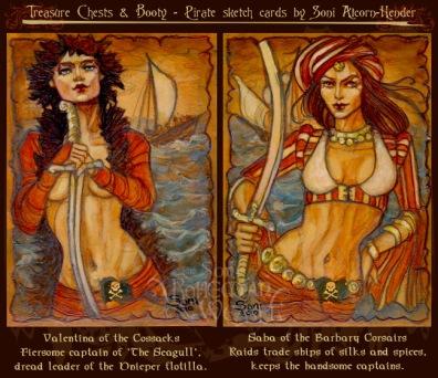 Valentina of the Cossacks & Saba of the Barbary Corsairs by Soni Alcorn-Hender